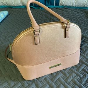 Anne Klein rose gold handbag